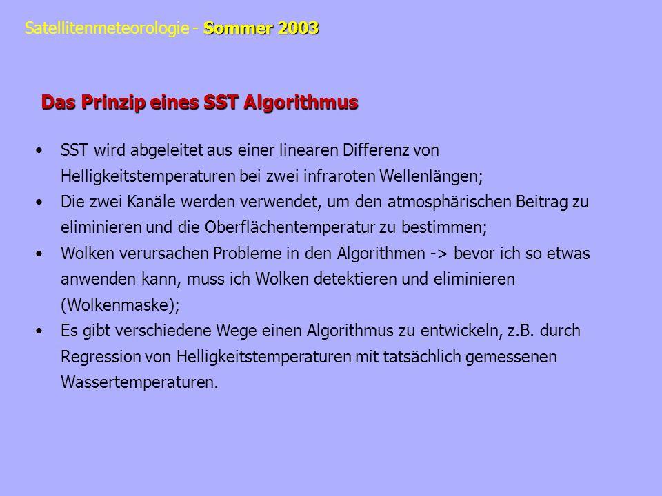 Das Prinzip eines SST Algorithmus