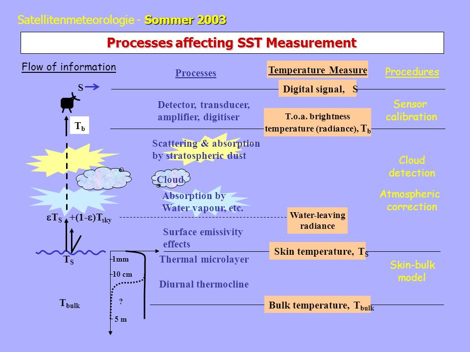 Processes affecting SST Measurement
