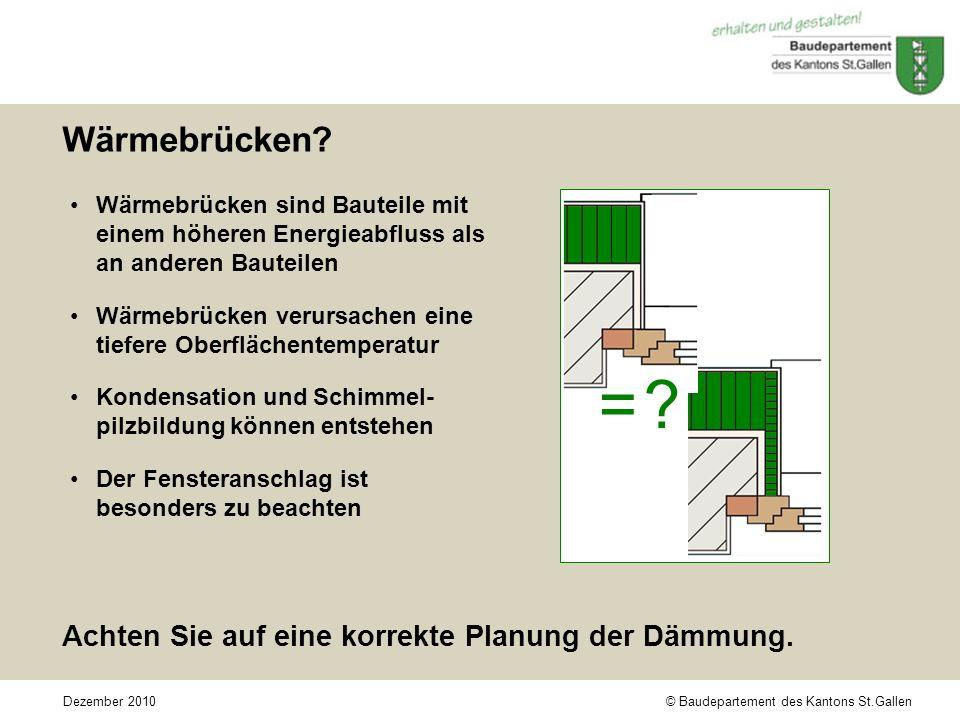 = Wärmebrücken Achten Sie auf eine korrekte Planung der Dämmung.