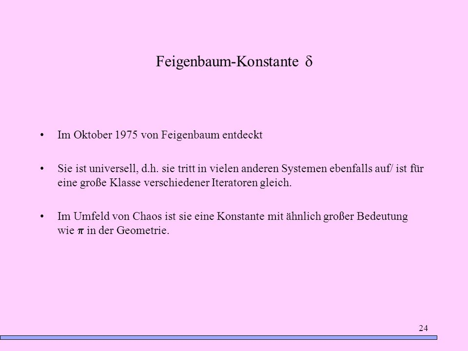 Feigenbaum-Konstante d