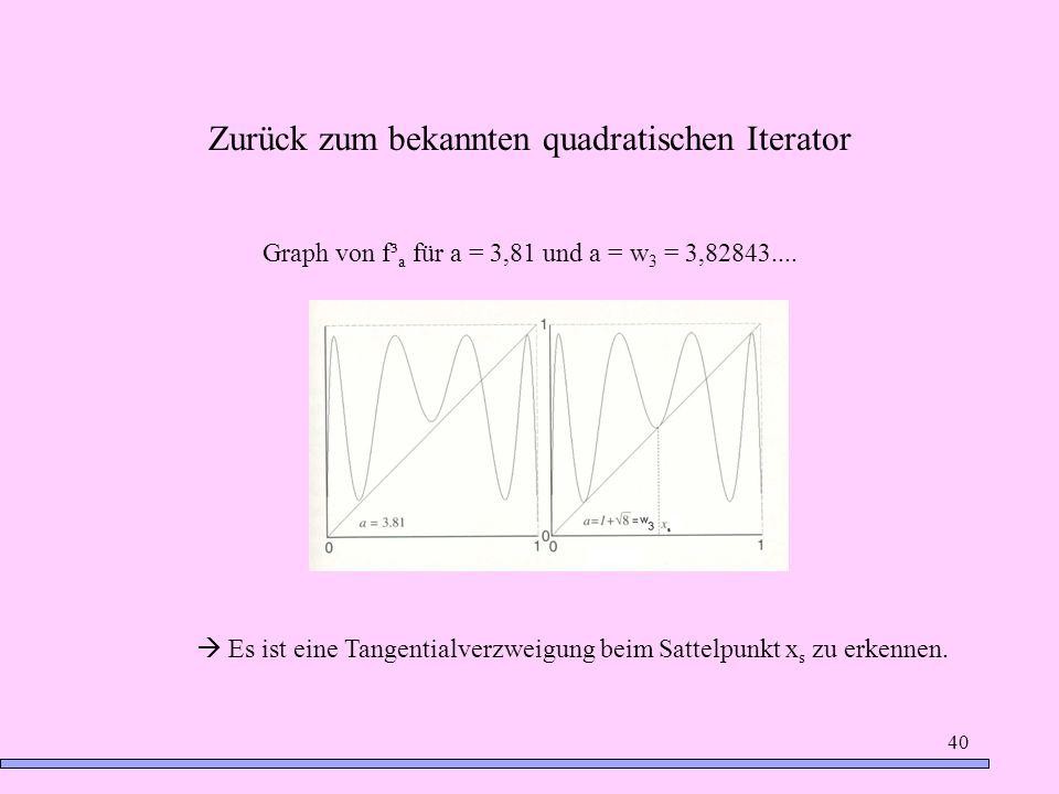 Zurück zum bekannten quadratischen Iterator
