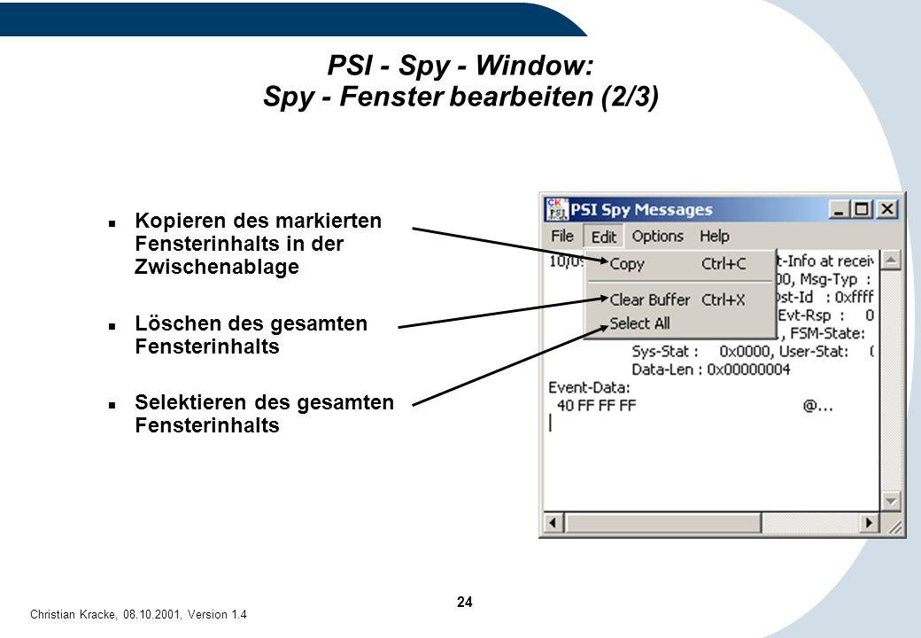 PSI - Spy - Window: Spy - Fenster bearbeiten (2/3)