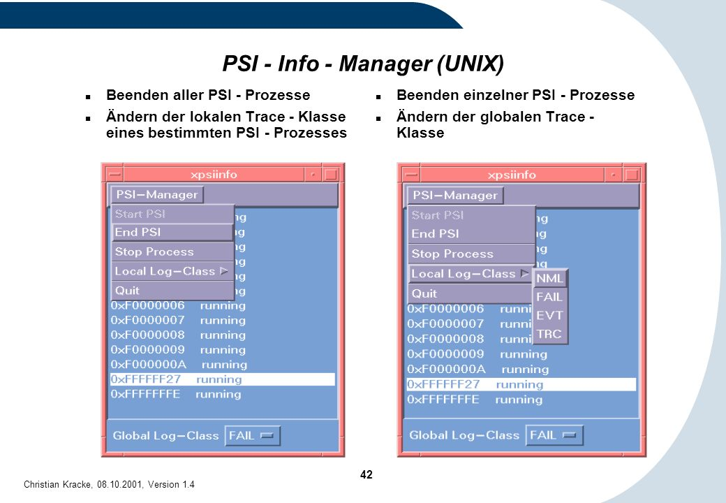PSI - Info - Manager (UNIX)