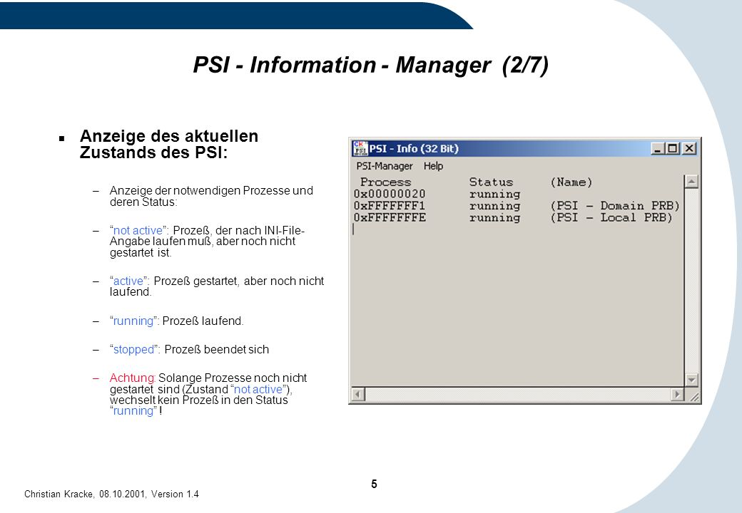 PSI - Information - Manager (2/7)