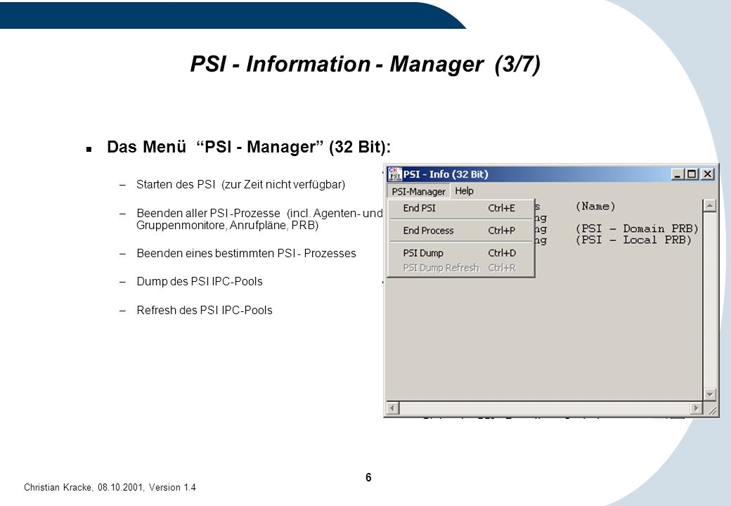 PSI - Information - Manager (3/7)
