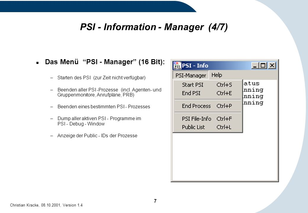PSI - Information - Manager (4/7)