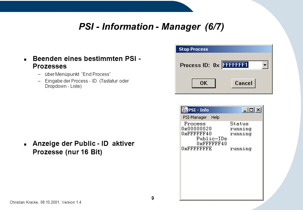 PSI - Information - Manager (6/7)