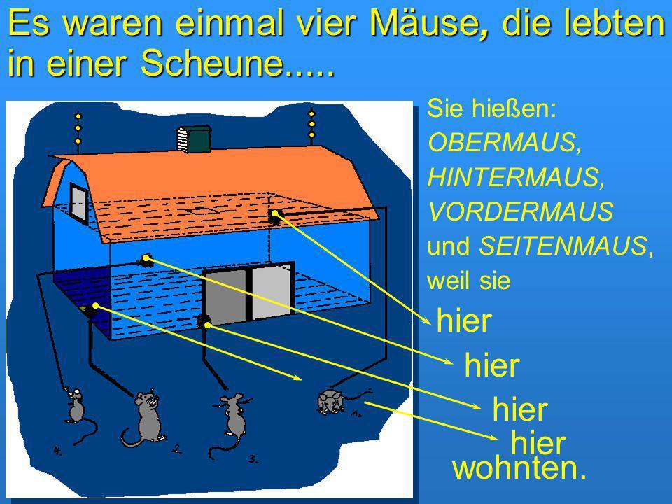 Es waren einmal vier Mäuse, die lebten in einer Scheune.....