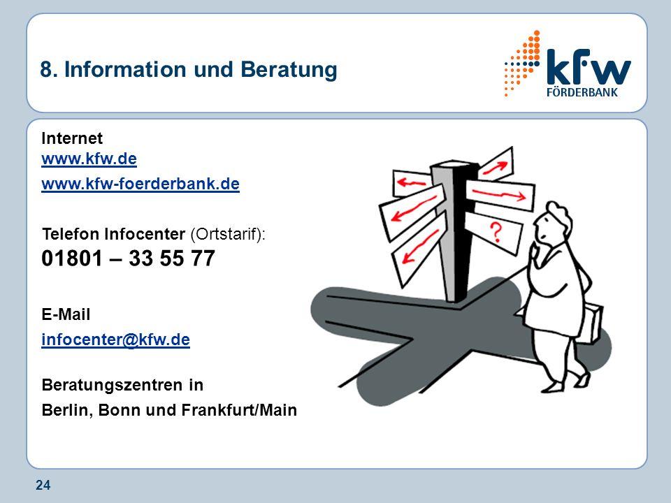 8. Information und Beratung