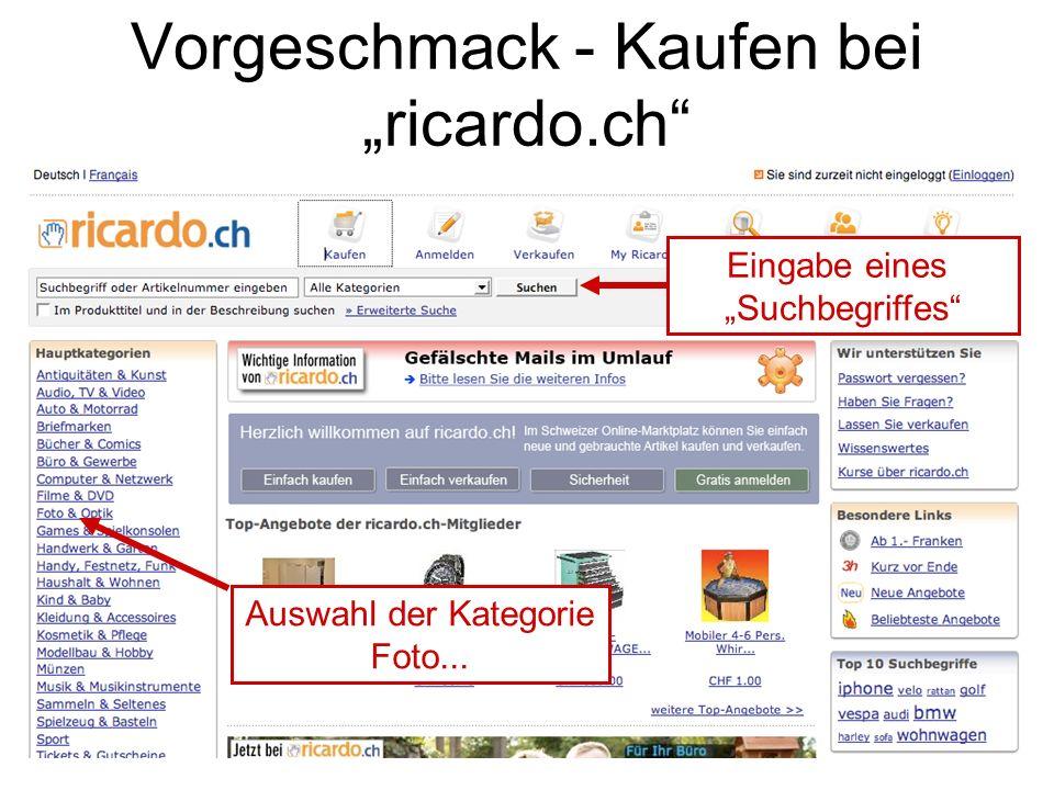 """Vorgeschmack - Kaufen bei """"ricardo.ch"""