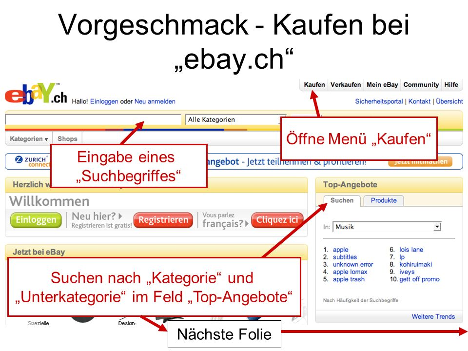 """Vorgeschmack - Kaufen bei """"ebay.ch"""