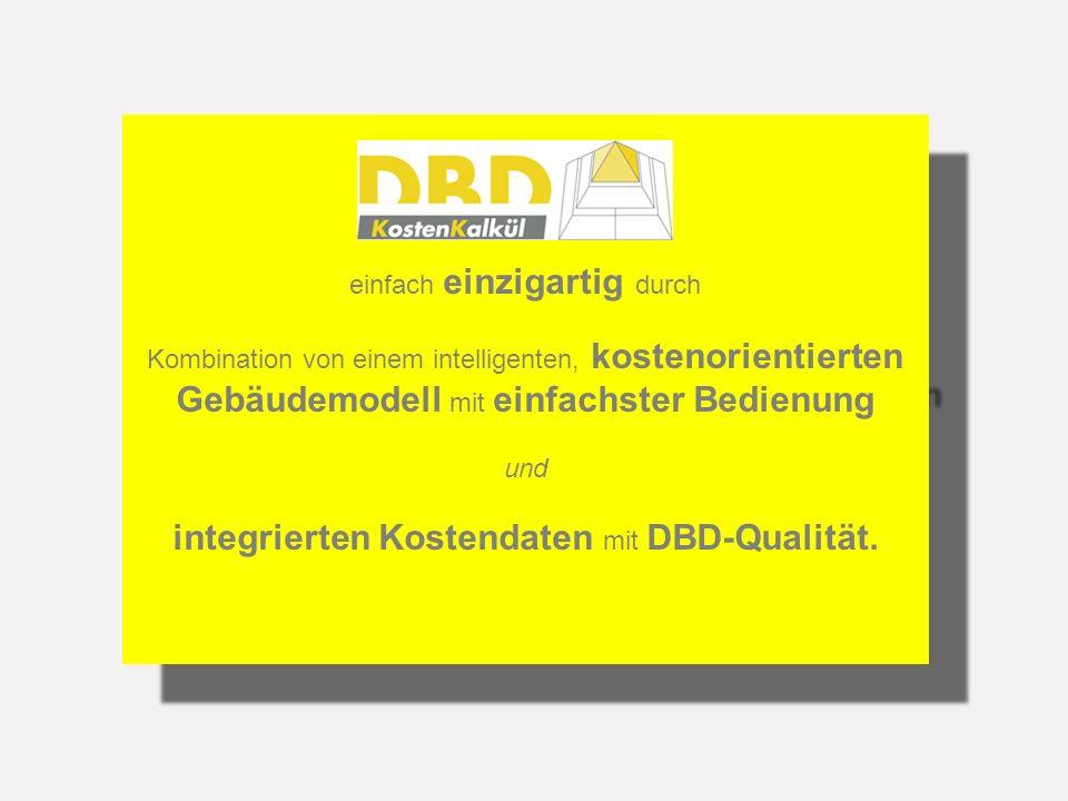 integrierten Kostendaten mit DBD-Qualität.