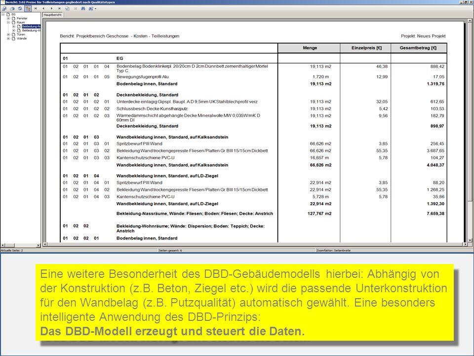 Eine weitere Besonderheit des DBD-Gebäudemodells hierbei: Abhängig von