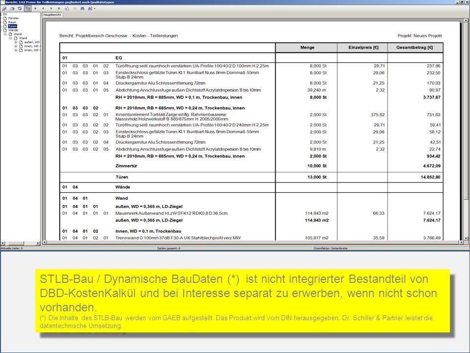 STLB-Bau / Dynamische BauDaten (