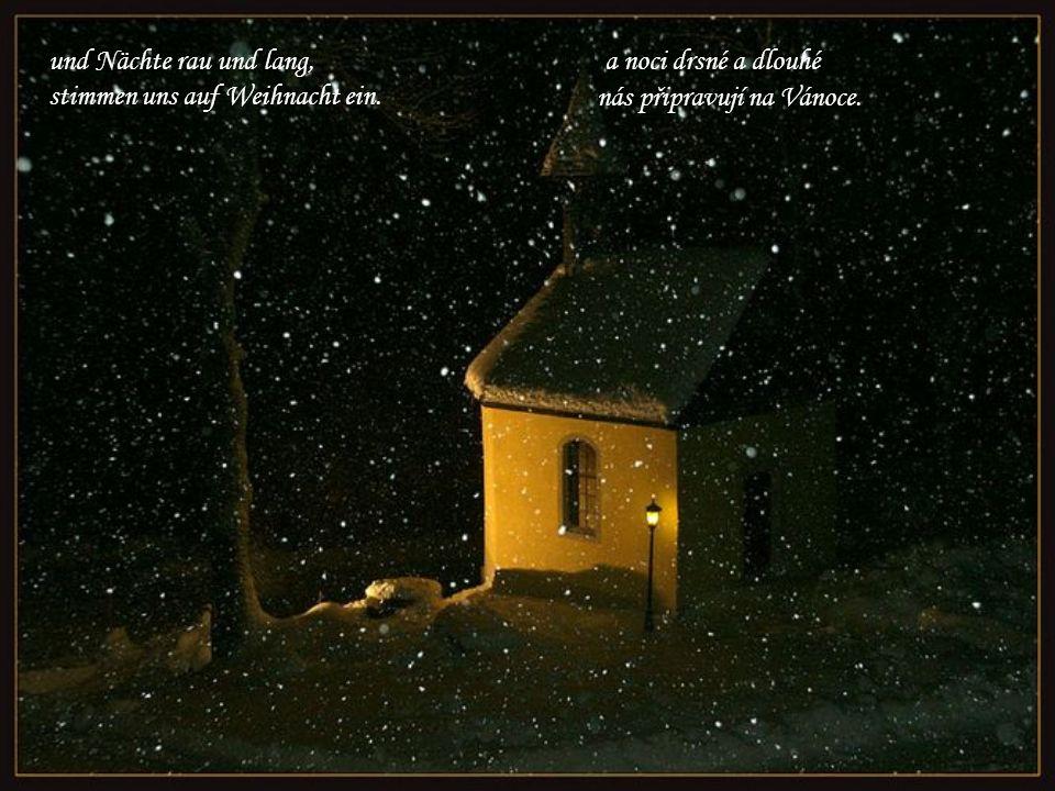 stimmen uns auf Weihnacht ein. nás připravují na Vánoce.
