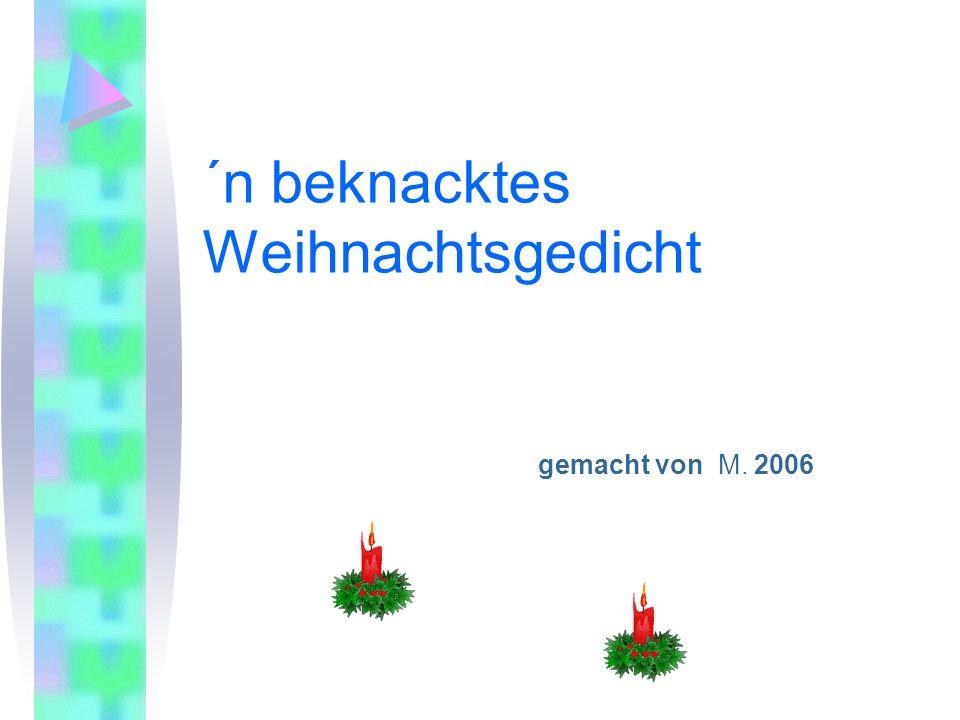 ´n beknacktes Weihnachtsgedicht