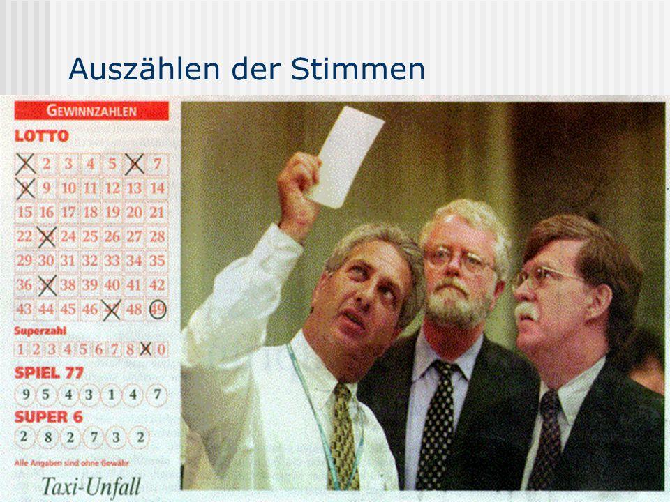 Auszählen der Stimmen www.UniWahl-soft.de