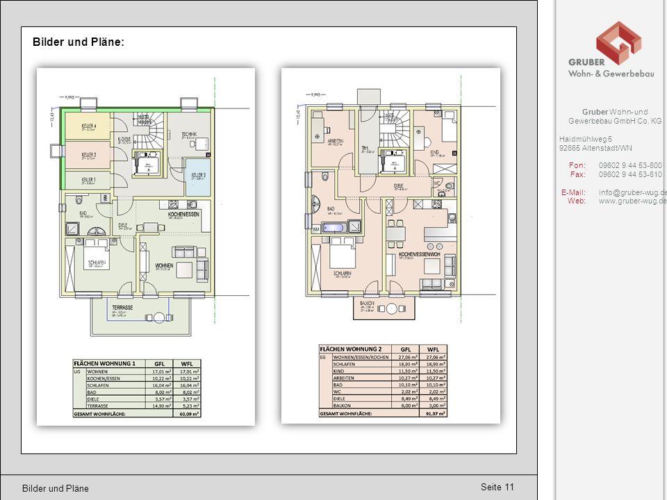 Bilder und Pläne: Bilder und Pläne Gruber Wohn- und