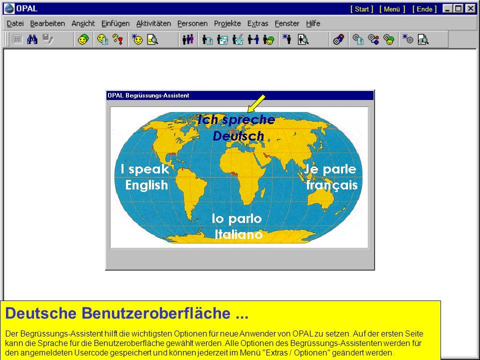 Deutsche Benutzeroberfläche ...