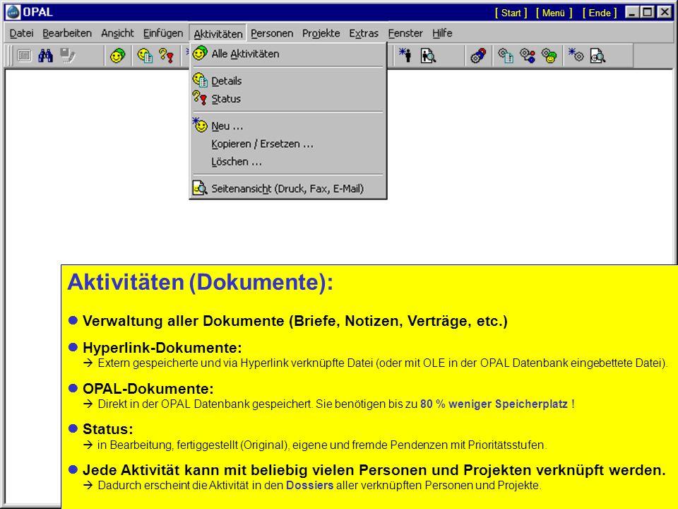 Aktivitäten (Dokumente):