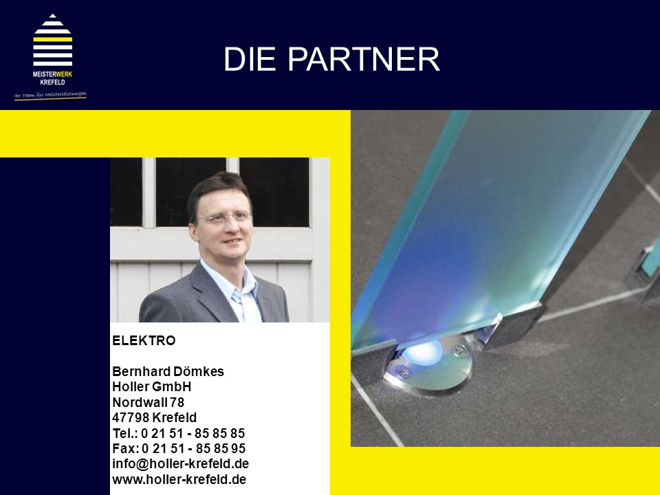 DIE PARTNER ELEKTRO Bernhard Dömkes Holler GmbH Nordwall 78