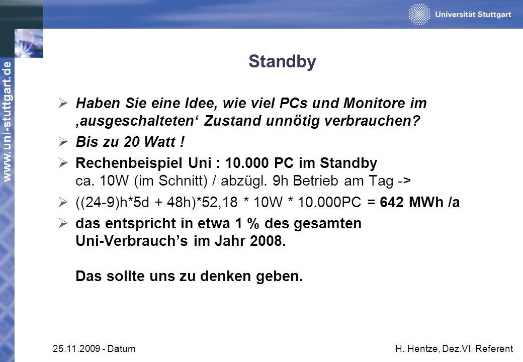 Standby Haben Sie eine Idee, wie viel PCs und Monitore im 'ausgeschalteten' Zustand unnötig verbrauchen