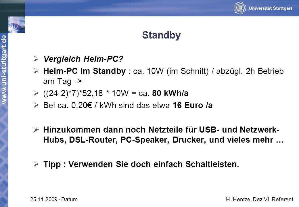 Standby Vergleich Heim-PC