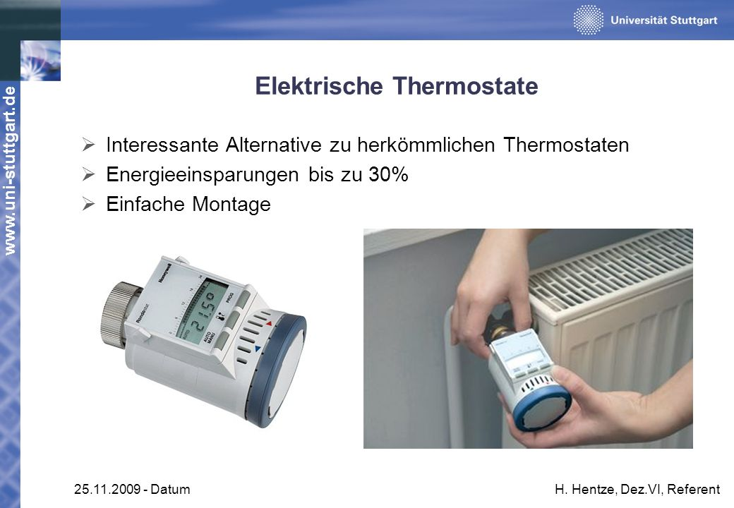 Elektrische Thermostate