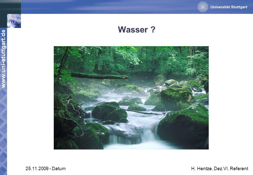 Wasser 25.11.2009 - Datum H. Hentze, Dez.VI, Referent