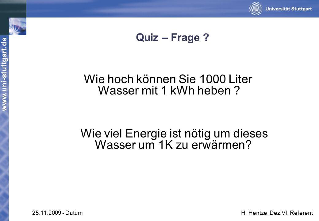 Wie hoch können Sie 1000 Liter Wasser mit 1 kWh heben