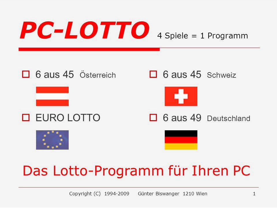 PC-LOTTO 4 Spiele = 1 Programm