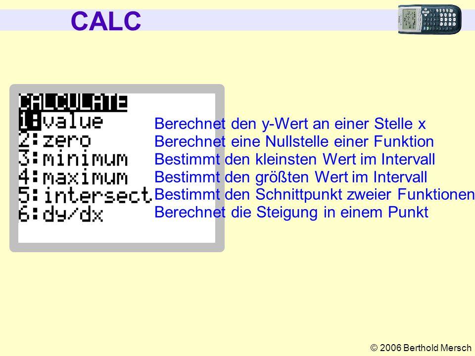 CALC Berechnet den y-Wert an einer Stelle x