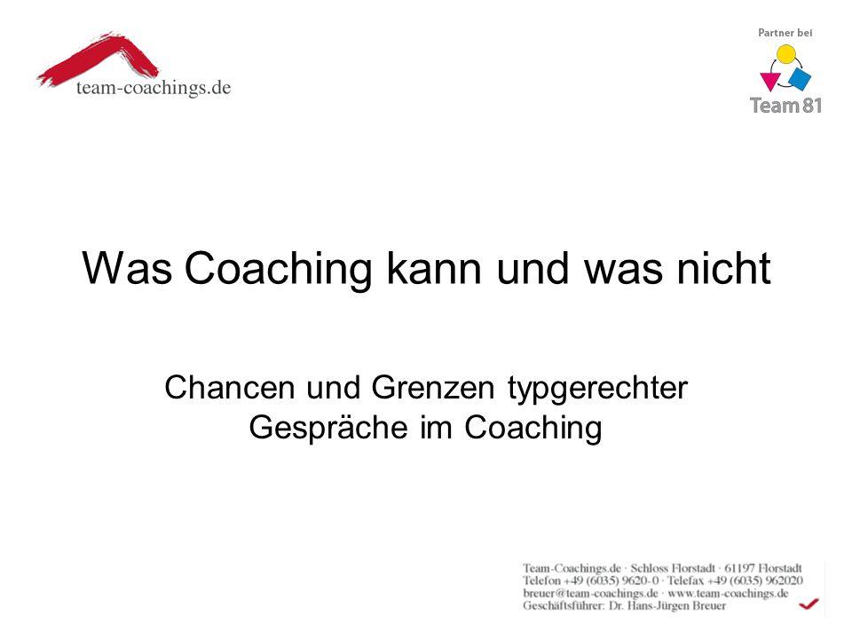 Was Coaching kann und was nicht