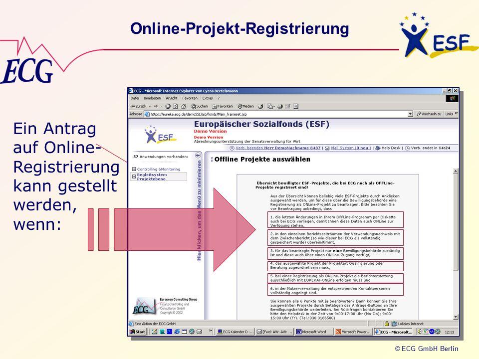 Online-Projekt-Registrierung