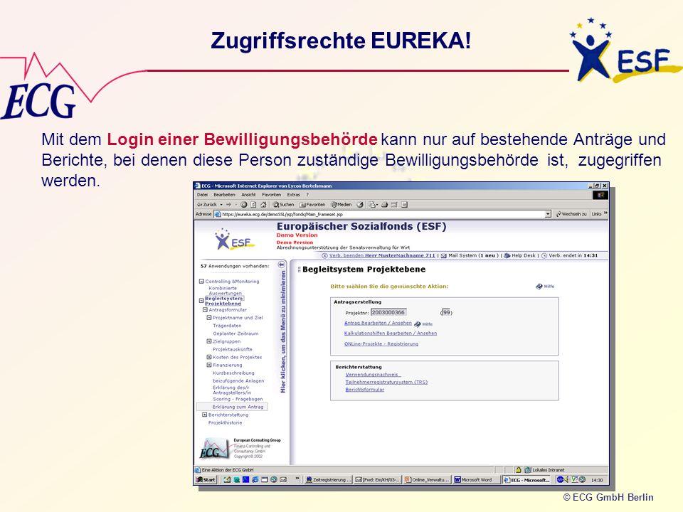 Zugriffsrechte EUREKA!