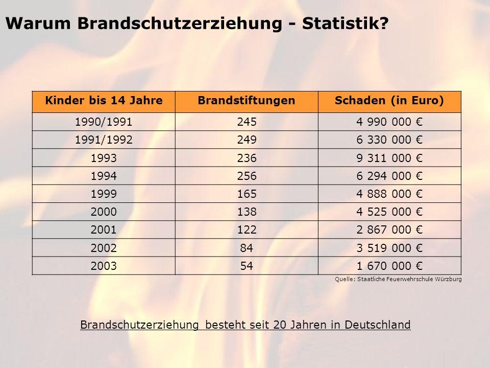 Warum Brandschutzerziehung - Statistik