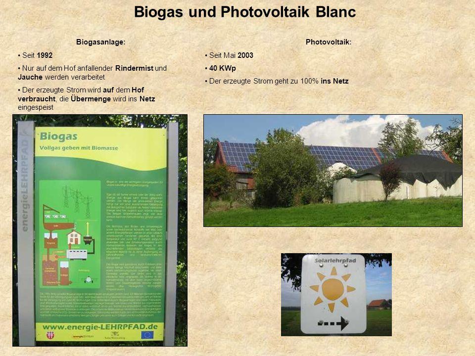 Biogas und Photovoltaik Blanc