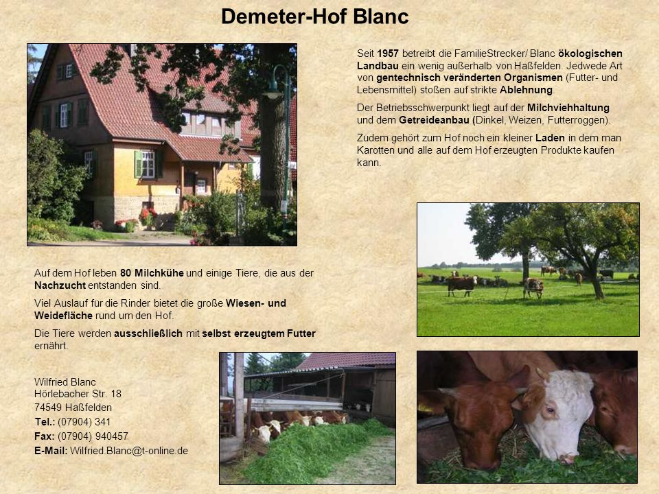Demeter-Hof Blanc
