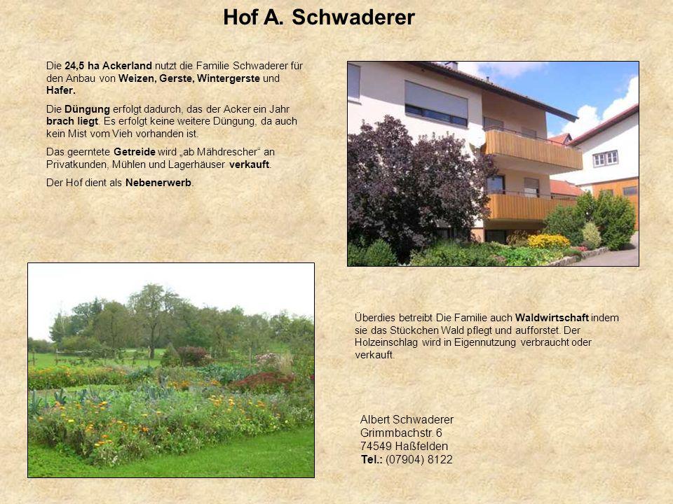 Hof A. Schwaderer Albert Schwaderer Grimmbachstr. 6 74549 Haßfelden