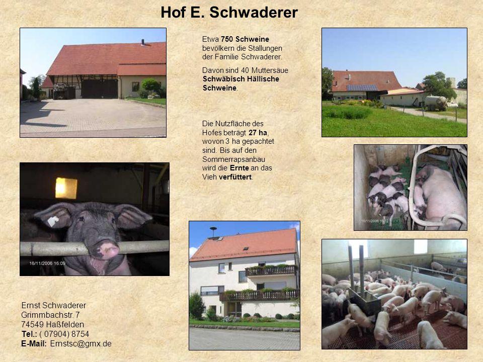 Hof E. Schwaderer Ernst Schwaderer Grimmbachstr. 7 74549 Haßfelden
