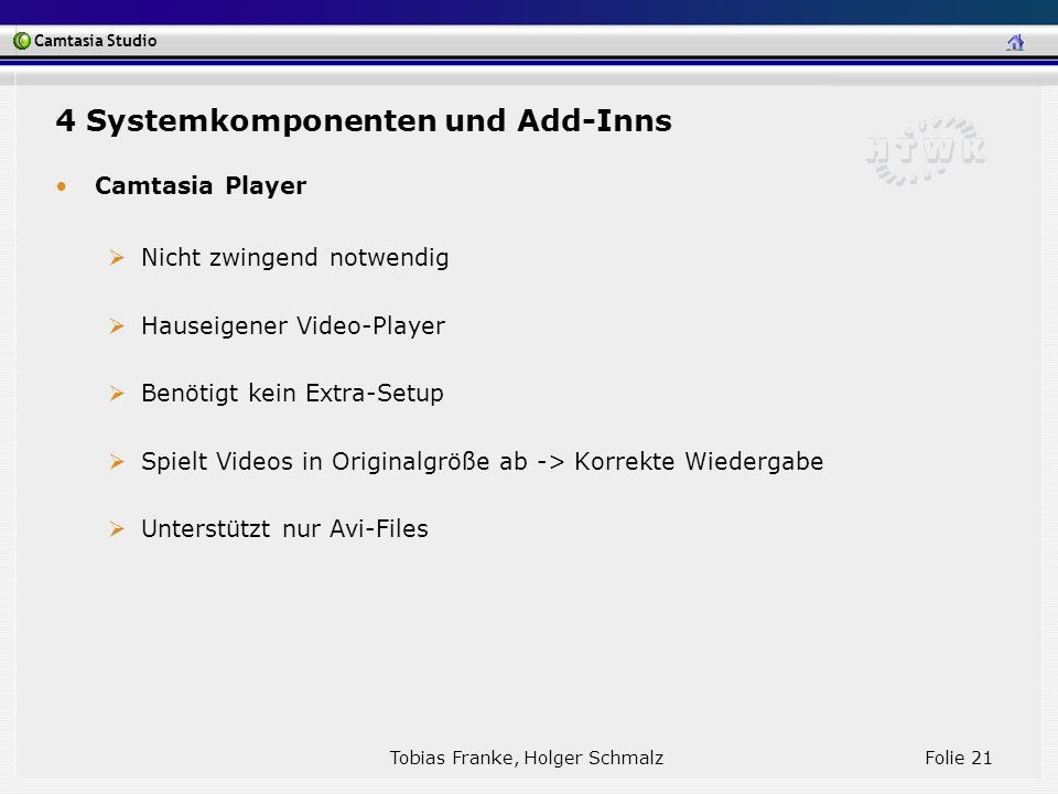 4 Systemkomponenten und Add-Inns