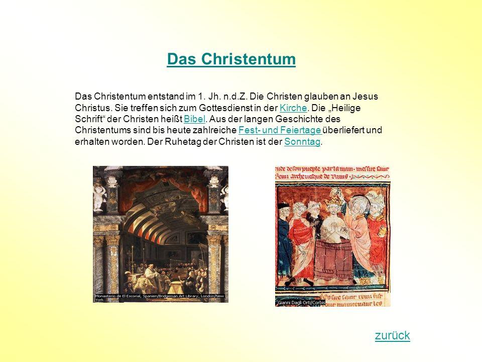 Das Christentum zurück