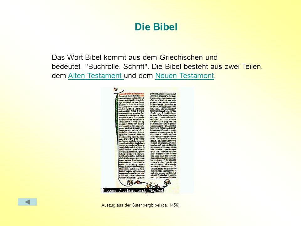 Auszug aus der Gutenbergbibel (ca. 1456)
