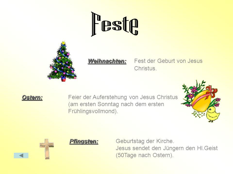 Feste Weihnachten: Fest der Geburt von Jesus Christus.