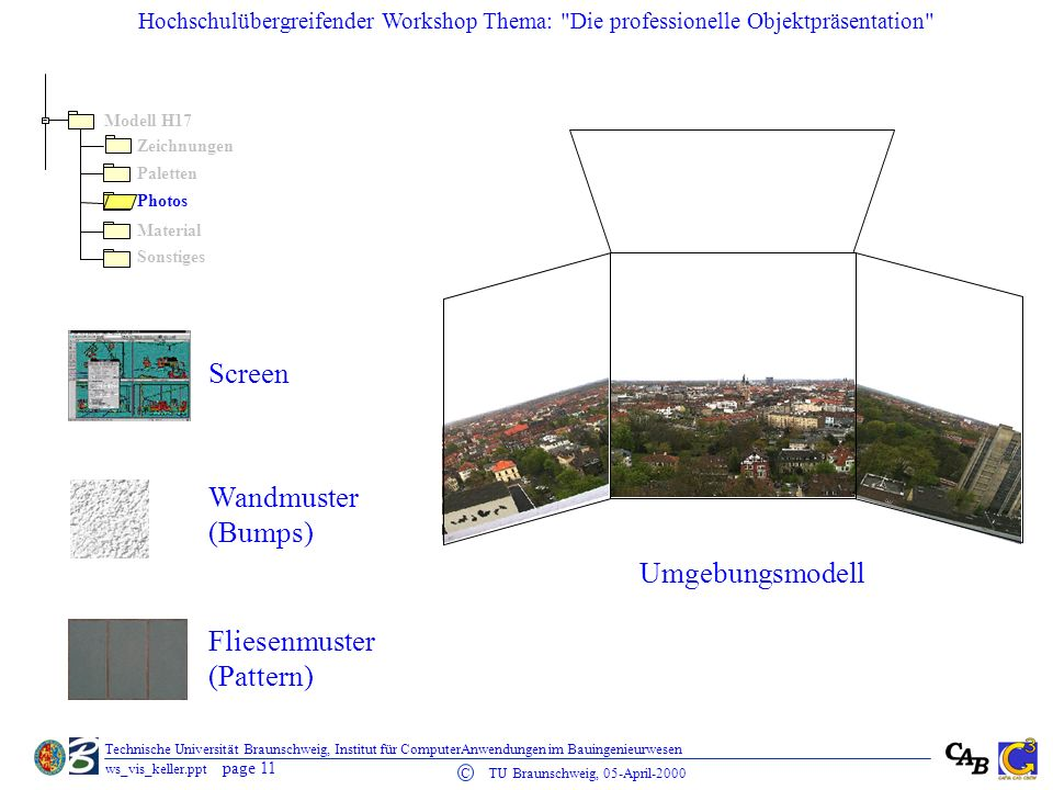 Screen Wandmuster (Bumps) Umgebungsmodell Fliesenmuster (Pattern)