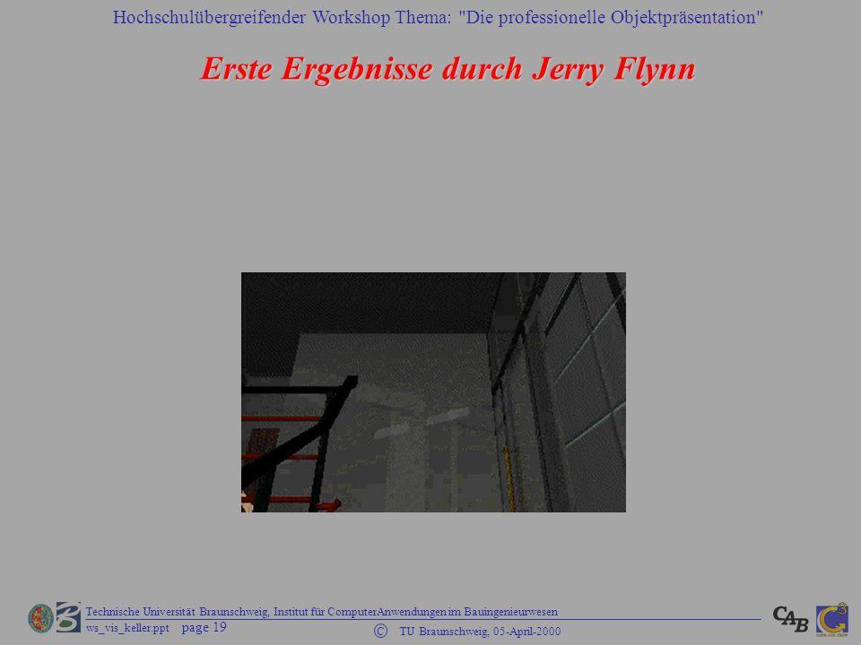 Erste Ergebnisse durch Jerry Flynn