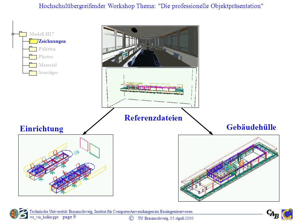 Referenzdateien Gebäudehülle Einrichtung Modell H17 Zeichnungen