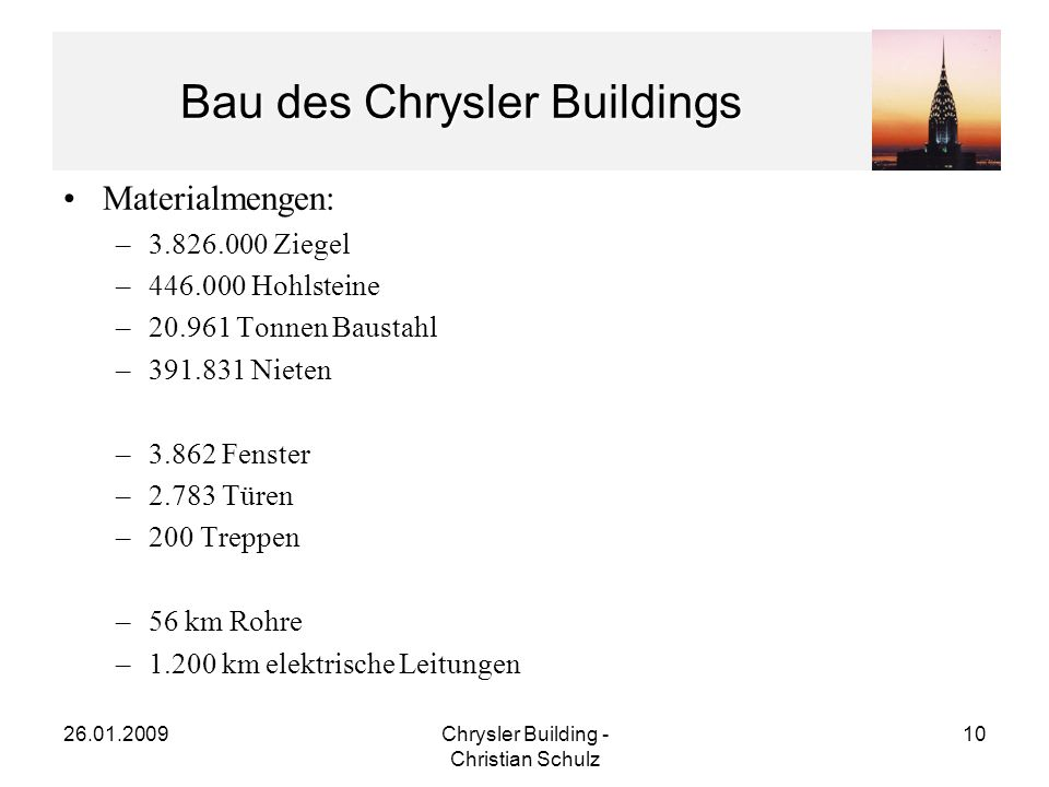 Bau des Chrysler Buildings