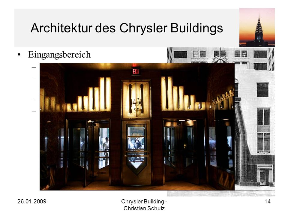Architektur des Chrysler Buildings