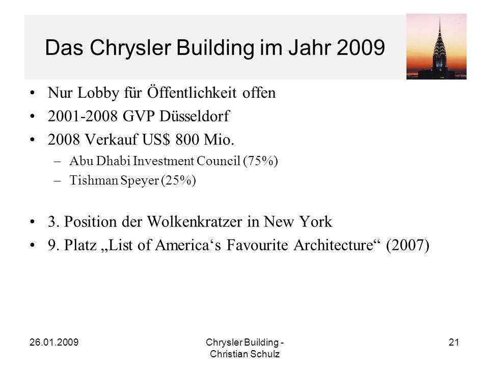 Das Chrysler Building im Jahr 2009